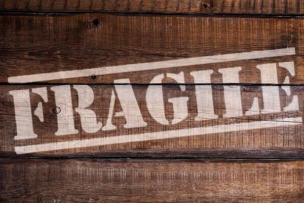 enseres frágiles en una mudanza
